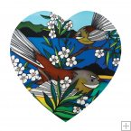 Ceramic Heart, Jo May, Fantail