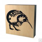0754 Laser Cut Bamboo Art Block - Kiwi