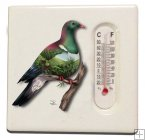 SBM011, Ceramic thermometer magnet, Wood Pigeon