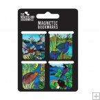 Set of 4 Magnetic Bookmarks, Jo May, NZ Birds