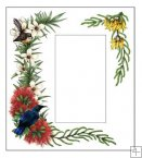 SBF003,Ceramic Frame - NZ Birds & Flora
