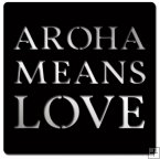 0713- Mirror Plaque - Aroha Means Love - Black