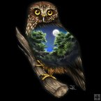 LED Canvas - Morepork