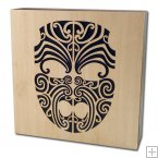 0752 Laser Cut Bamboo Art Block - Maori Designs