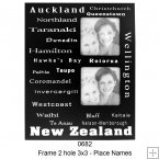0682 3 x 3 Frame with NZ Place Names