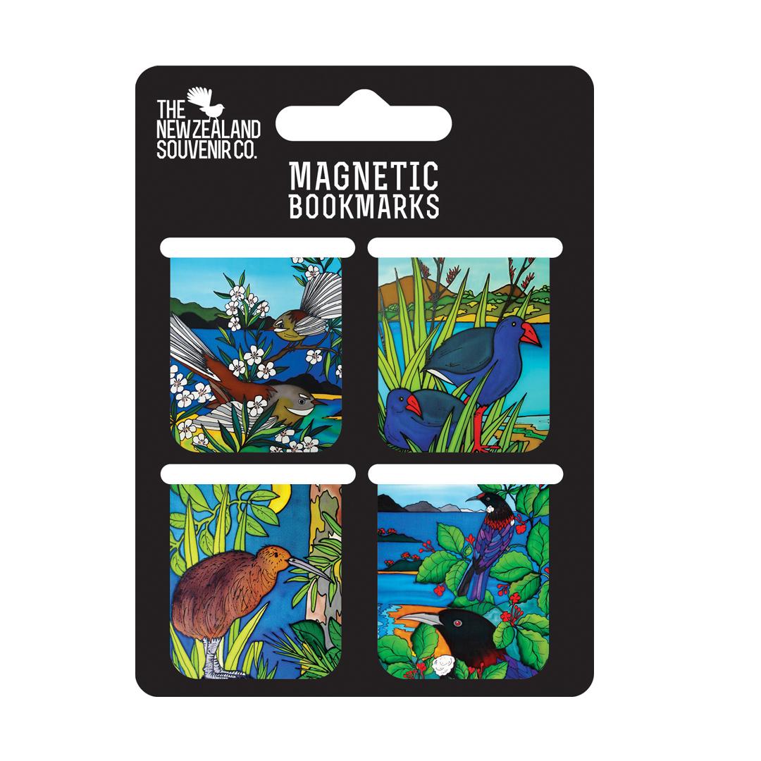 set of 4 magnetic bookmarks jo may nz birds jmbm01